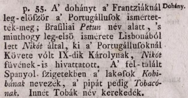 1783. A dohány