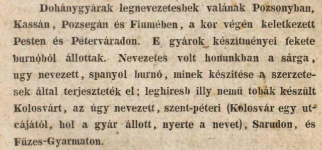 1790 előtti dohánygyárak