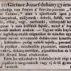 1837.02.22. Gärtner dohánygyáros