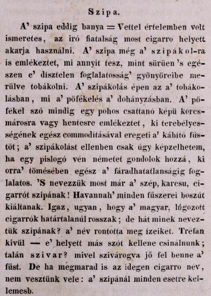 1837.08.15. Szipa - szivar