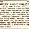 1841.06.05. Gärtner dohánykereskedés