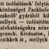 1845.10.09. Packhofer Gyula szivargyáros