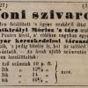 1845.10.16. Szentkirályi Móricz szivargyáros