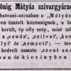 1846.06.09. Honig Mátyás dohánygyáros