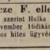 1846.11.08. Hulka Vince elleni csődper