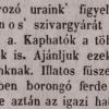 1846.12.29. Eckstein János szivargyára