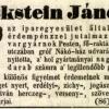 1847.01.29. Eckstein János szivargyára