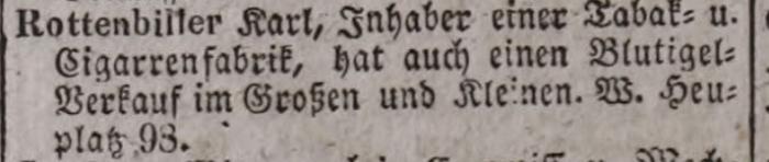 1847. Rottenbiller Károly dohánykereskedő