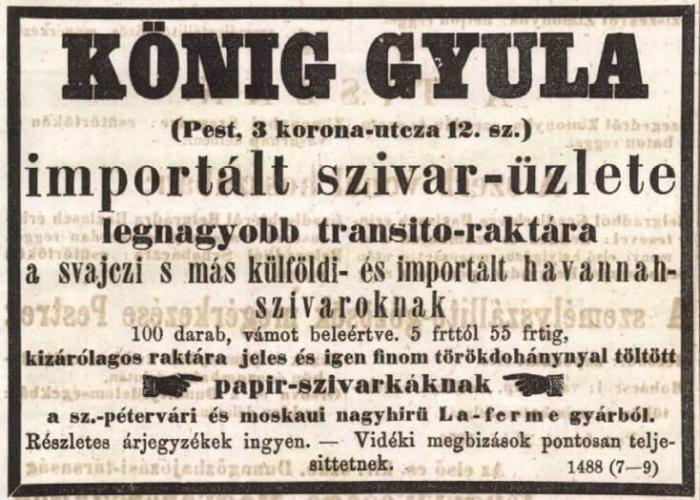 1866.03.14. Import dohánygyártmányok