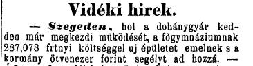 1885.05.24. Szegedi Dohánygyár