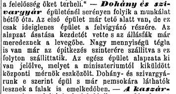 1885.07.05. Debreceni dohánygyár