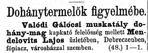 1886.02.07. Muskatály dohány