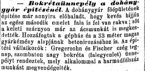 1886.10.24. Debreceni dohánygyár