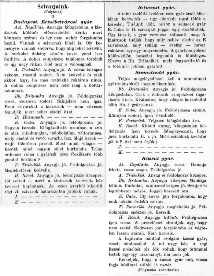 1893.11.20. Szivarjaink