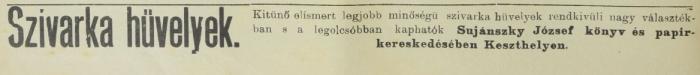 1902.11.16. Szivarkahüvelyek