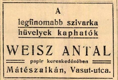 1912.07.26. Szivarkahüvelyek
