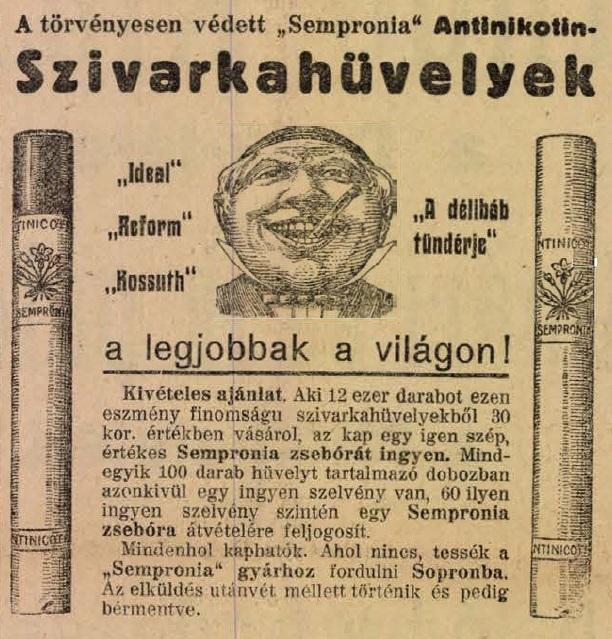 1913.12.18. Sempronia Antinicotin hüvely
