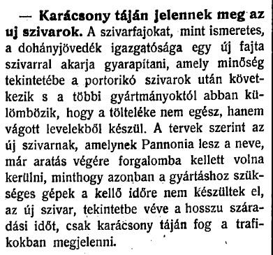 1920.08.10. Pannonia szivar