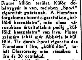 1923.06.23. Fiumei dohánygyár