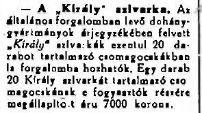 1924.06.24. Király szivarka