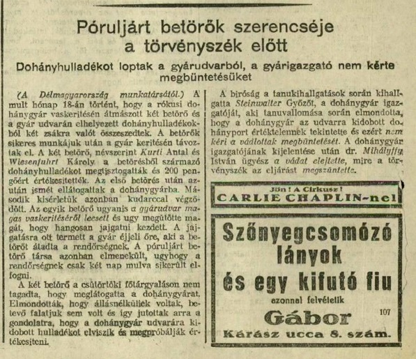 1928.09.21. Póruljárt betörők