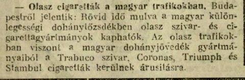 1928.10.04. Olasz cigaretták