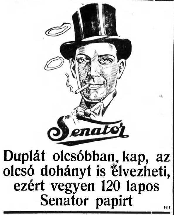1928.10.16. Senator cigarettapapír