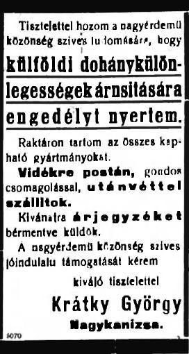 1928.10.17. Külföldi dohányáru