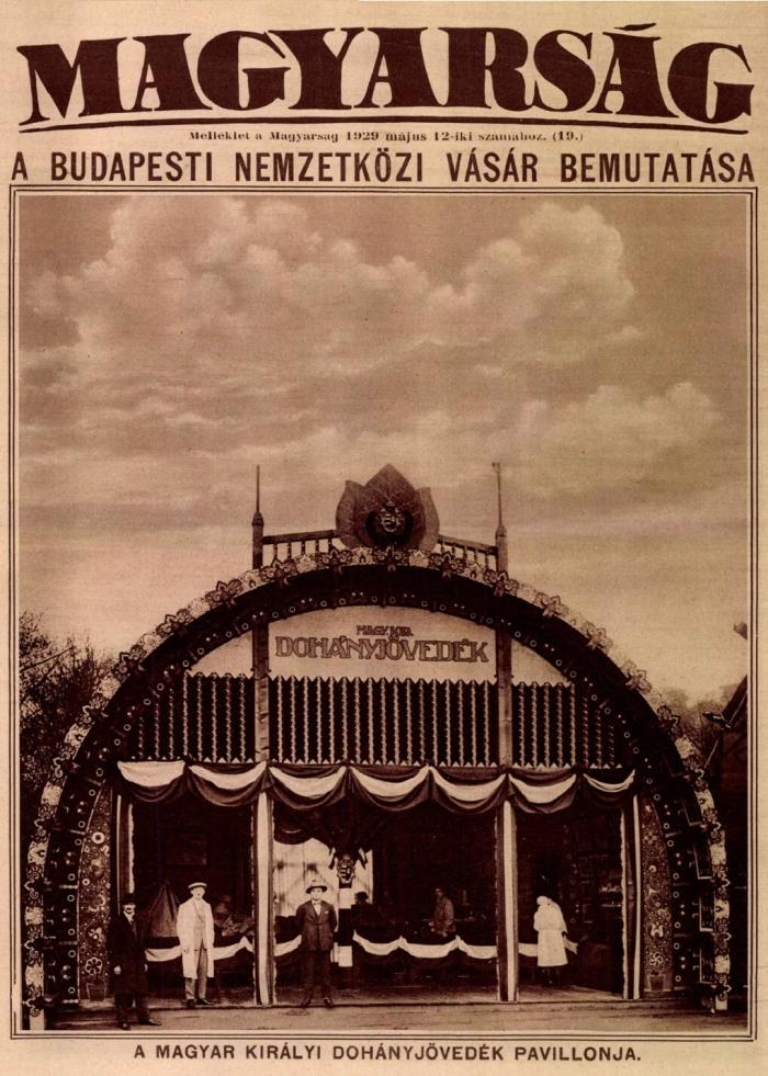 1929.05.12. Dohánypavilon a BNV-n