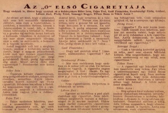 1929.05.15. Az ő első cigarettája