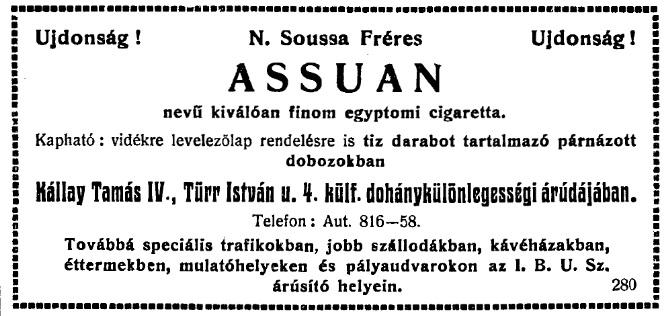 1929.06.02. Assuan cigaretta