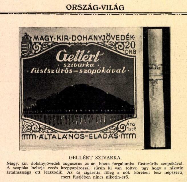 1929.09.15. Gellért cigaretta