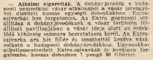 1931.05.09. BNV-Extra cigaretta