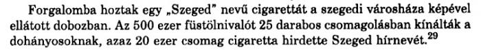 1937. Szeged cigaretta