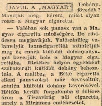 1947.03.25. Javuló cigaretták