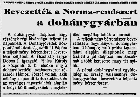 1947.10.05. Indul a norma-rendszer