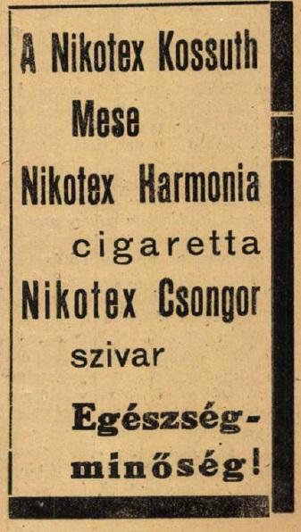 1948.08.10. Nikotex-gyártmányok