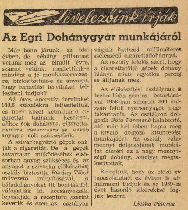 1959.02.11. Egri Dohánygyár