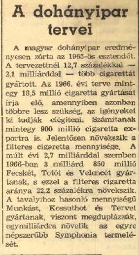 1966.01.06. A dohányipar tervei