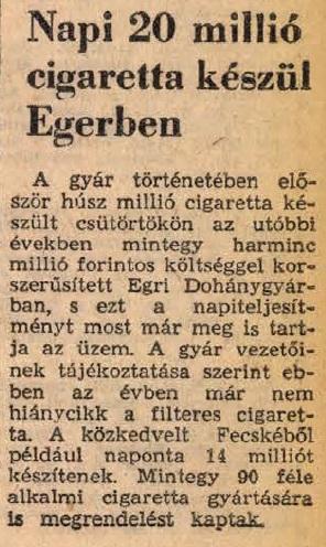1970.01.23. Egri Dohánygyár