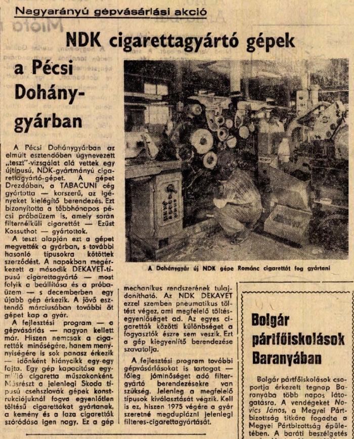 1971.07.22. Pécsi Dohánygyár