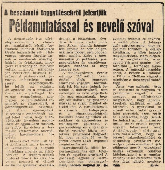 1979.02.10. Dohányipari beszámoló