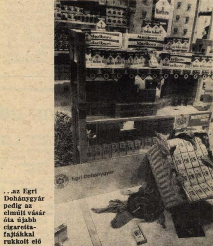 1983.09.18. Egri Dohánygyár pavilon
