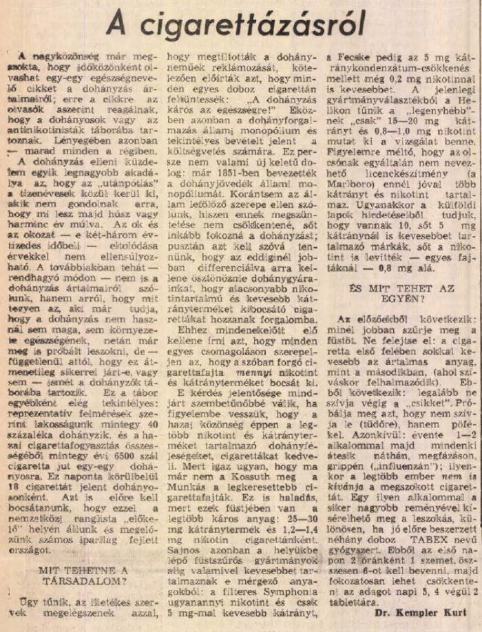 1984.12.09. A cigarettázásról