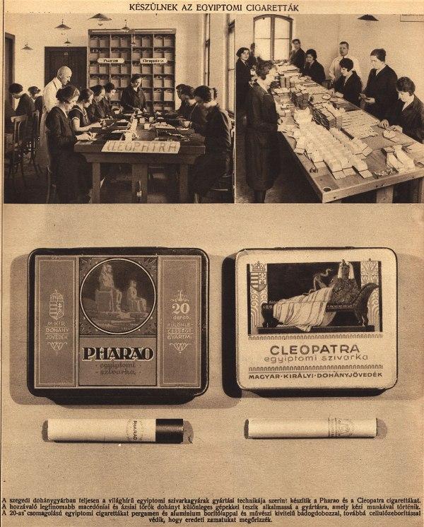 1930. Készülnek az egyiptomi cigaretták