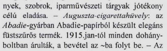 1914. Auguszta cigarettahüvely