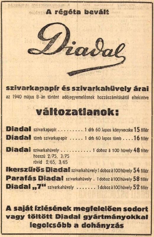 1940.09.08. Diadal papír és hüvely