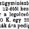 1923.08.05. Dohány áremelés