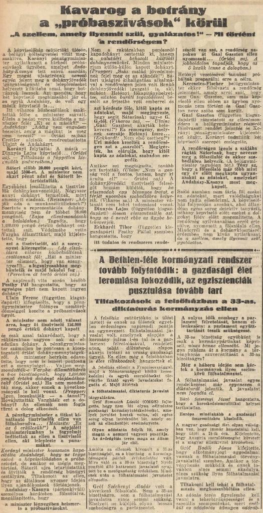 1932.05.22. Kavarog a botrány