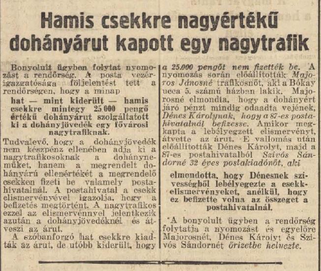 1938.09.18. Trafikos-visszaélés